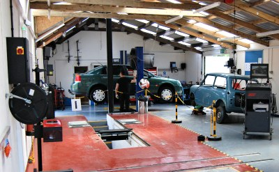Our excellent new MOT testing area
